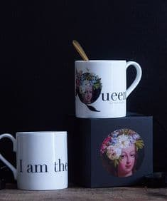I am the Queen (of this house) bone china mug - Marie Antoinette